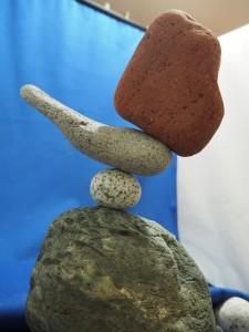 石花サクサク作・石花名「サクサク」初作品。愛しのロクサーヌ。 ※石花金木師匠にいただいたまんまる石を使った初作品です。